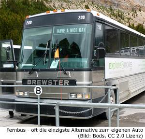 Bus Fernbus Überland Kanada