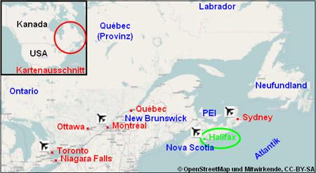 Karte Plan Halifax
