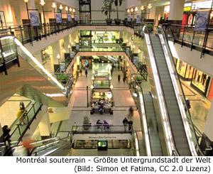 Montréal souterrain Ville intérieure Untergrundstadt
