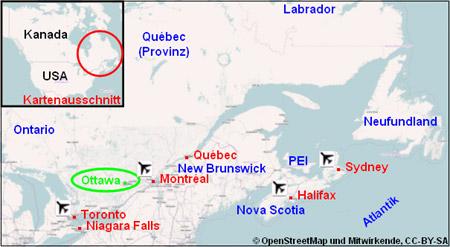 Ottawa Stadtplan Karte Reiseführer