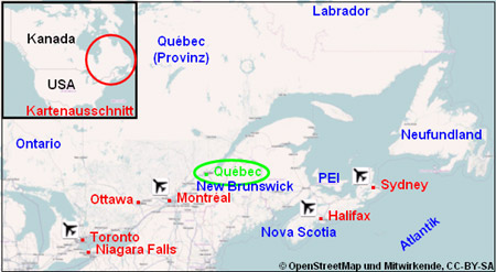 Quebec Stadtplan Karte Reiseführer City Stadt