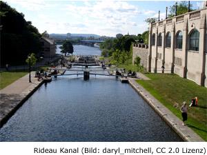 Ottawa Sightseeing Sehenswürdigkeit Rideau Kanal