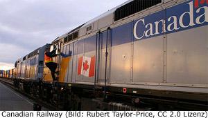 Eisenbahn Zug Kanada